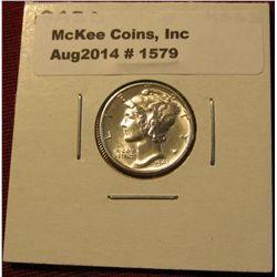 1579. 1943 D Mercury Dime. MS 63.