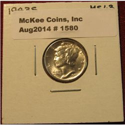 1580. 1943 S Mercury Dime. MS 63.