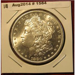1584. 1880 S Morgan Silver Dollar. DMPL MS 64.