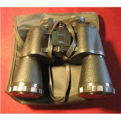 1601. BU shnell 10 x 50 mm Binoculars in Carrying case.