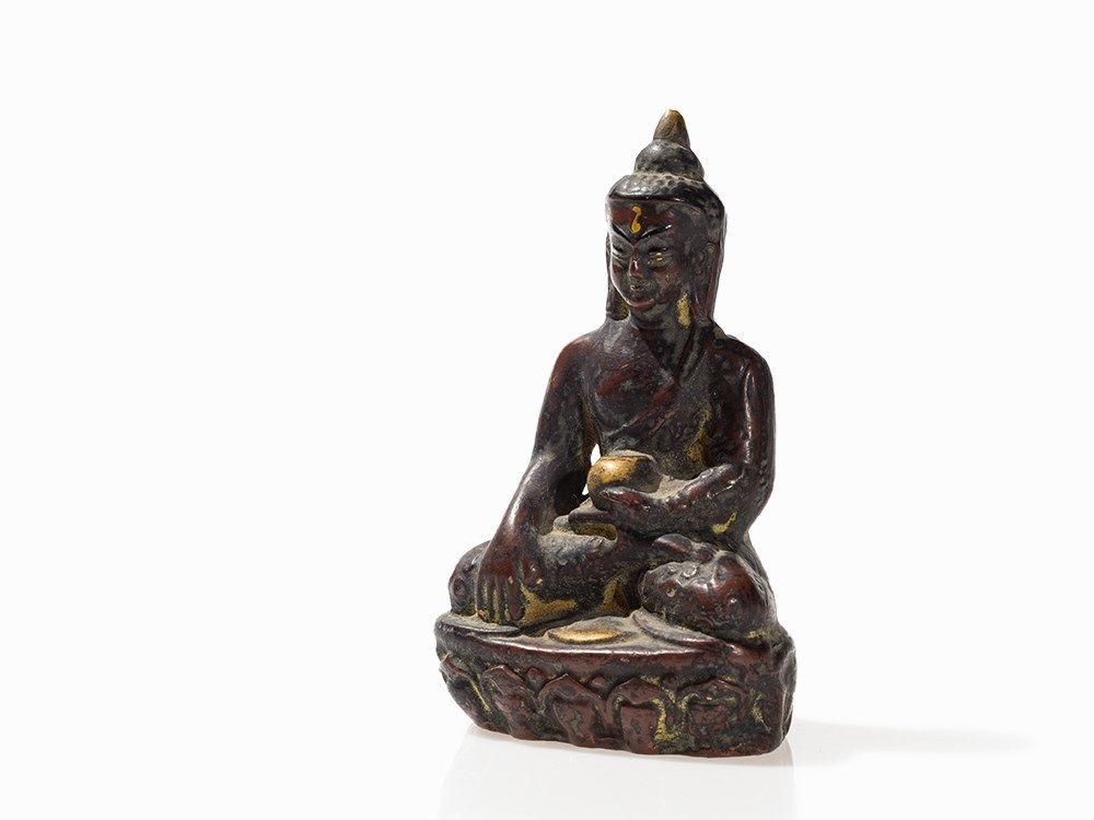 1153b23312 Image 1 : Hand Painted Clay Buddha Amitabha, Bhutan, around 1900 ...