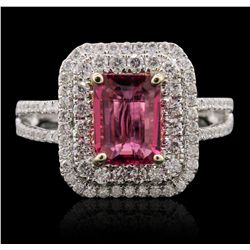 14KT White and Yellow Gold 1.43ct Tourmaline and Diamond Ring A8726