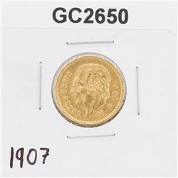 1907 Cinco Pesos Gold Coin GC2650