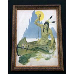 Fayerweather Babcock Indian Fishing Print