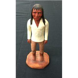 Indian Wood Carving (Bob White Eagle)