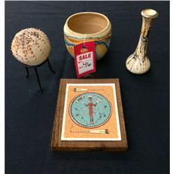 Misc. Pottery & Sand painting Lot
