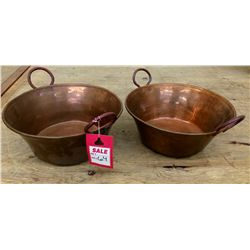 Hammered Copper Bowl Lot