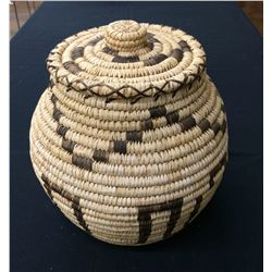 Tahono O'odham Indian Lidded Basket