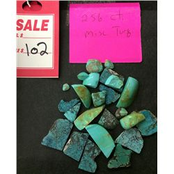Lot of Misc. Turquoise 256 ct.
