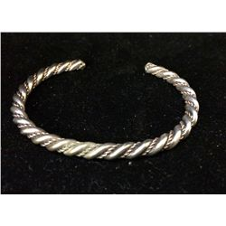 Twisted Rope Sterling Cuff Bracelet