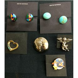 Cufflink and Hat Pin Lot