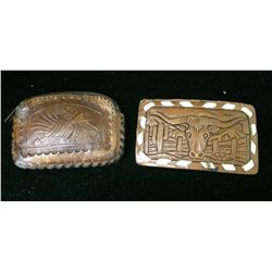Leather Belt Buckle and Change pouch