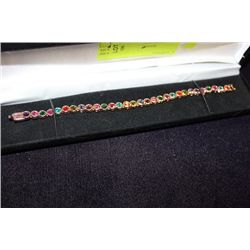 MULTI GEMSTONE TENNIS BRACELET