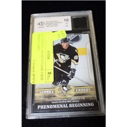 2005 SIDNEY CROSBY GAME USED JERSEY CARD