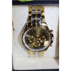 ROSRA GOLD TONE MEN'S WATCH