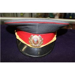 ORIGINAL RUSSIAN COMMUNIST OFFICER MILITARY HAT