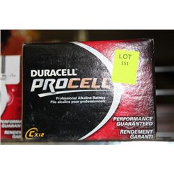 BOX W 12  DURACELL 'C' CELL BATTERIES