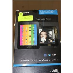 """8"""" POLAROID ANDROID INERNET TABLET"""