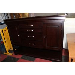 #24 SHOWHOME WOOD 2 DOOR 4 DRAWER SIDEBOARD