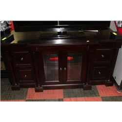 SHOWHOME WOOD 2 DOOR 4 DRAWER TV CABINET