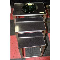 #8 3 PC NESTING TABLE SET