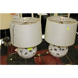 PAIR OF SHOWHOME LAMPS