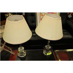 PAIR OF ESTATE VINTAGE LAMPS