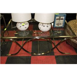 #4 SHOWHOME METAL AND GLASS COFFEE TABLE