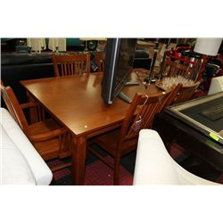 NEW WOOD KITCHEN TABLE W 2 ARMCHAIRS AND 4