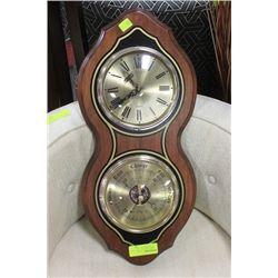 BULOVA CLOCK BAROMETER