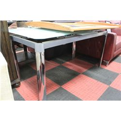 METAL AND GLASS KITCHEN TABLE