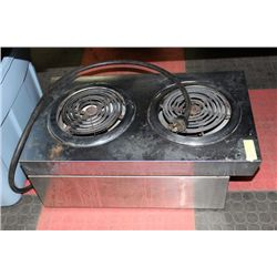 2 BURNER COOKTOP, ELECTRIC