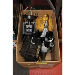 BOX OF OUTDOOR LANTERNS & LAMPS