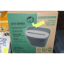 NEW ECO SERIES 9 SHEET CROSS CUT SHREDDER