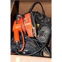 BOX OF ASST. POWER TOOLS ON CHOICE