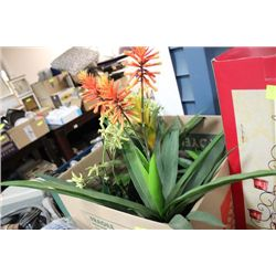 SHOWHOME BOX OF ARTIFICIAL PLANTS