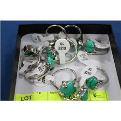 BOX OF 10 ASSORTED LADIES RINGS