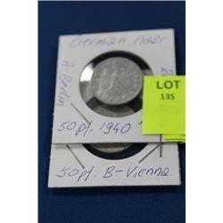 GERMAN 1940 50 PF COINS X 2