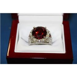 MENS DESIGNER RING ON CHOICE : RUBY