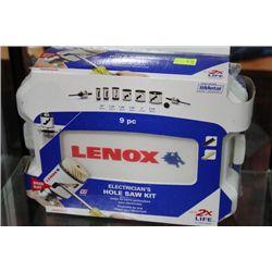 LENOX 9 PC ELECTRICIAN HOLE SAW KIT