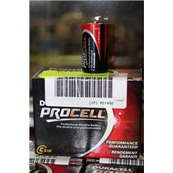 PK OF DURACELL PROCELL 'C' CELL BATTERIES