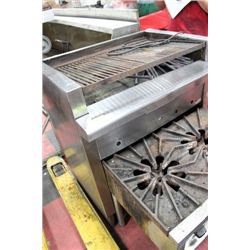 36'' CHARBROILER W/ BUILT IN STAND