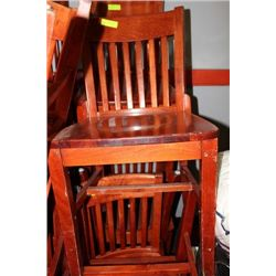 WOOD RESTAURANT COMMERCIAL GRADE CHAIR X20