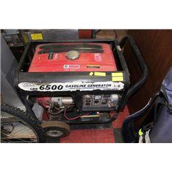 GENERATOR 6500 WATT GAS, LOW HOURS 221,