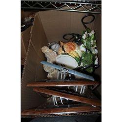 BOX OF ASST. ESTATE ORNAMENTS