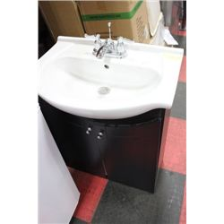 COMPLETE BATHROOM VANITY WITH SINK, FAUCET