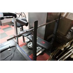 MARCY WEIGHT BENCH WITH PLATES