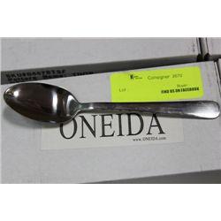 BOX 3 DOZEN ONEIDA COMMERCIAL GRADE TEASPOONS