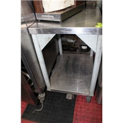 STAINLESS STEEL WHEELED CART