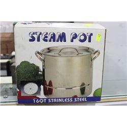 16 QT ST STEEL STEAM POT